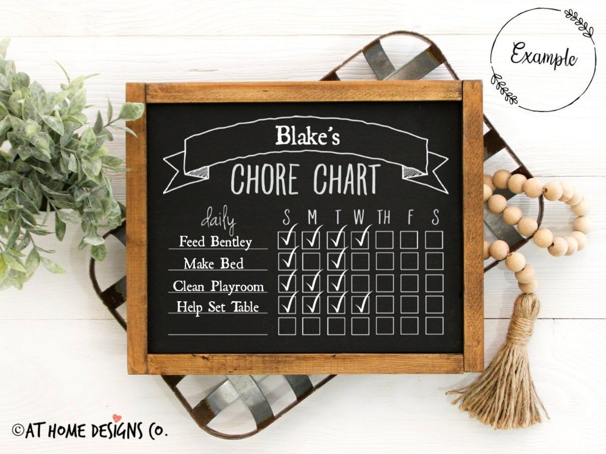 Diy Chalkboard Paint Chore Chart The Apron By The Home Depot