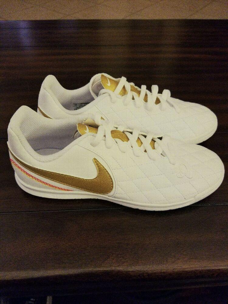 ce8210ff1cbd Advertisement(eBay) Nike Kids LegendX 7 Club 10R IC White/MtlcGold (AQ3829