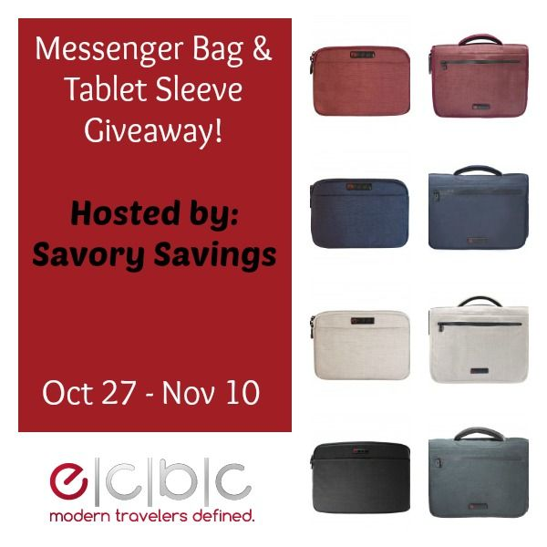 ECBC Messenger Bag & Tablet Sleeve Giveaway ends 11/10/14