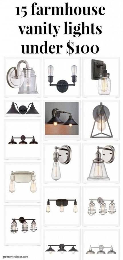 Photo of 15+  ideas for bathroom remodel on a budget farmhouse light fixtures #farmhouse …