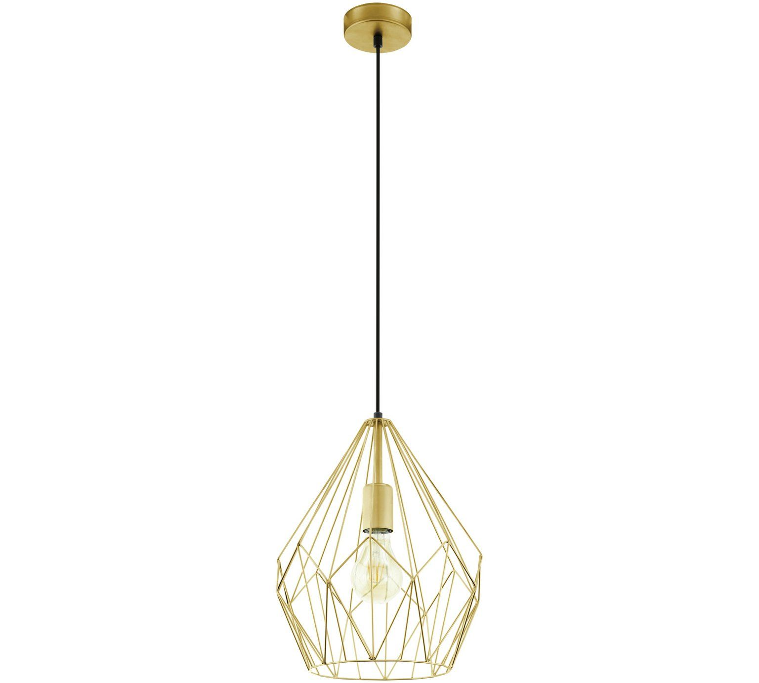 Buy Eglo Carlton Pendant Light - Gold at Argos.co.uk, visit Argos.co ...