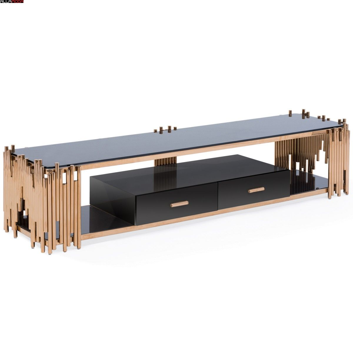 Mauris Tv Stand Rose Gold Tv Stand Gold Tv Stand Tv Unit Furniture [ 1200 x 1200 Pixel ]