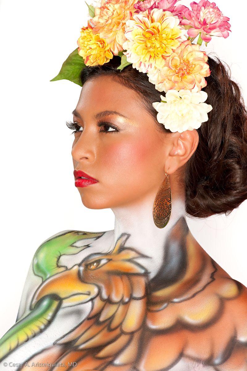 Viva Mexico Close Up Custom Body Art By Mig One Body Art Art Body Painting