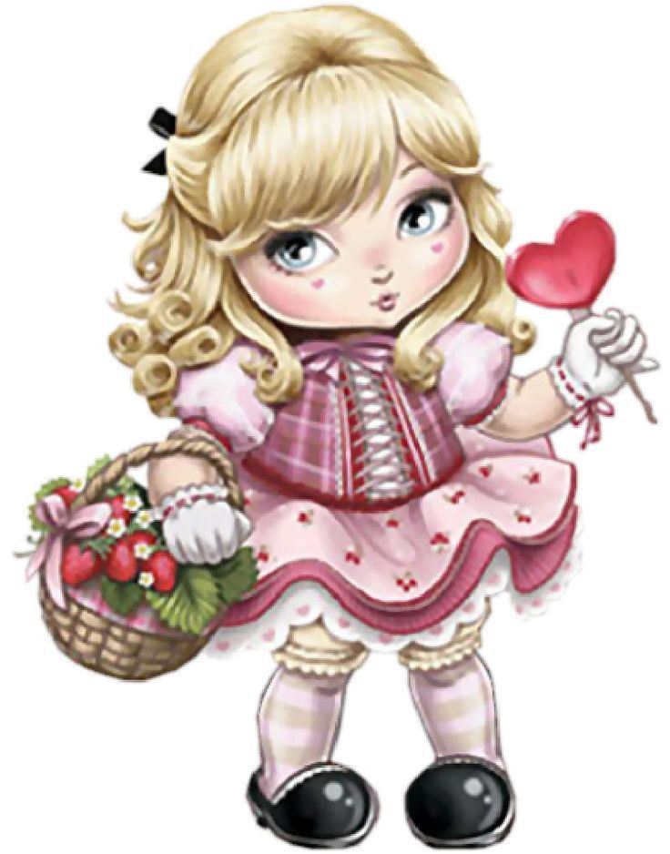 Картинки для детей куклы нарисованные, день рождения своими