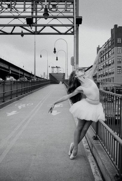 Ballet on the Williamsburg Bridge...I'd believe it
