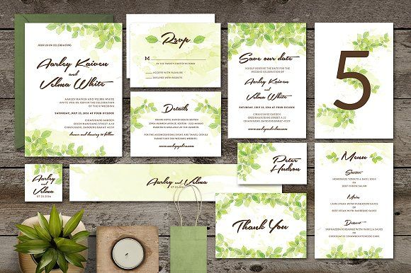 leaf wedding invitation set creativework247 invitation cards