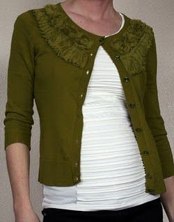 Tutorial: Textured T-Shirt Upcycle.  Cute colors and style