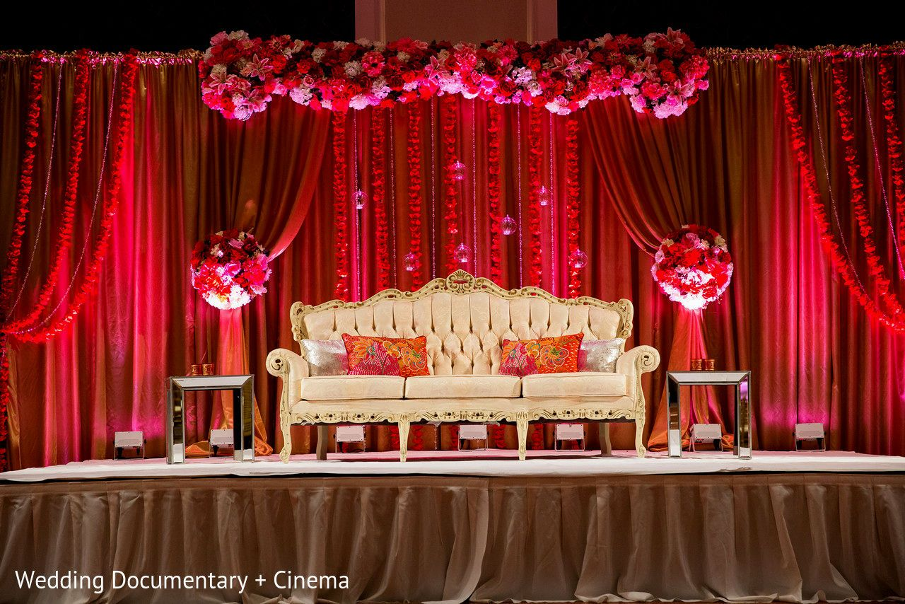 Modern wedding reception stage decoration wedding for Marriage decoration photos