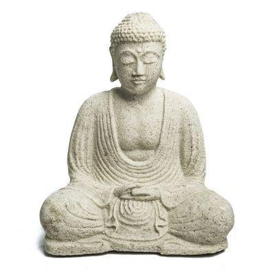 My Spirit Garden Volcanic Ash Peaceful Buddha Statue Color: White ...