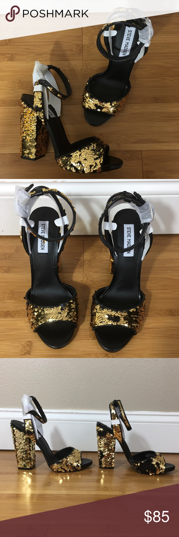 273d1df8c4f Steve Madden Ritzy Sandal These shoes are brand new with box. Black ...