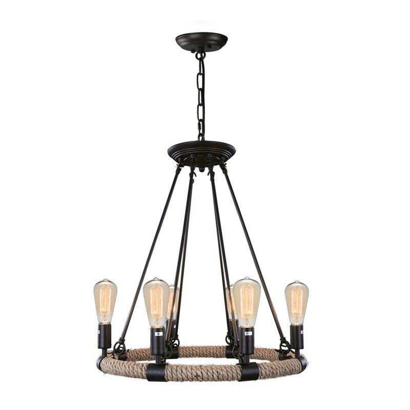 Youll love the industrial 6 light candle style chandelier at wayfair
