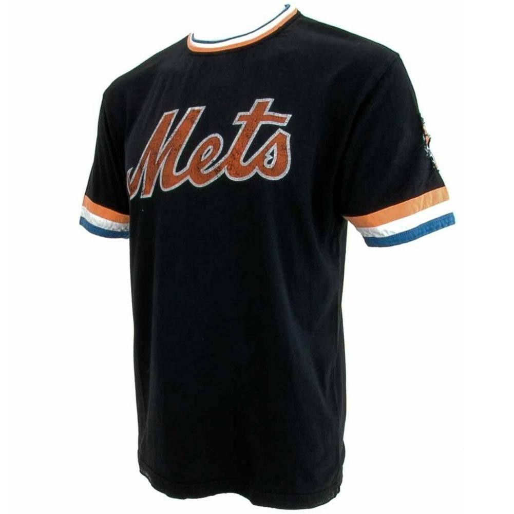 new product 4f7d5 ac75e New York Mets - Cursive Logo Black Jersey | Products | New ...