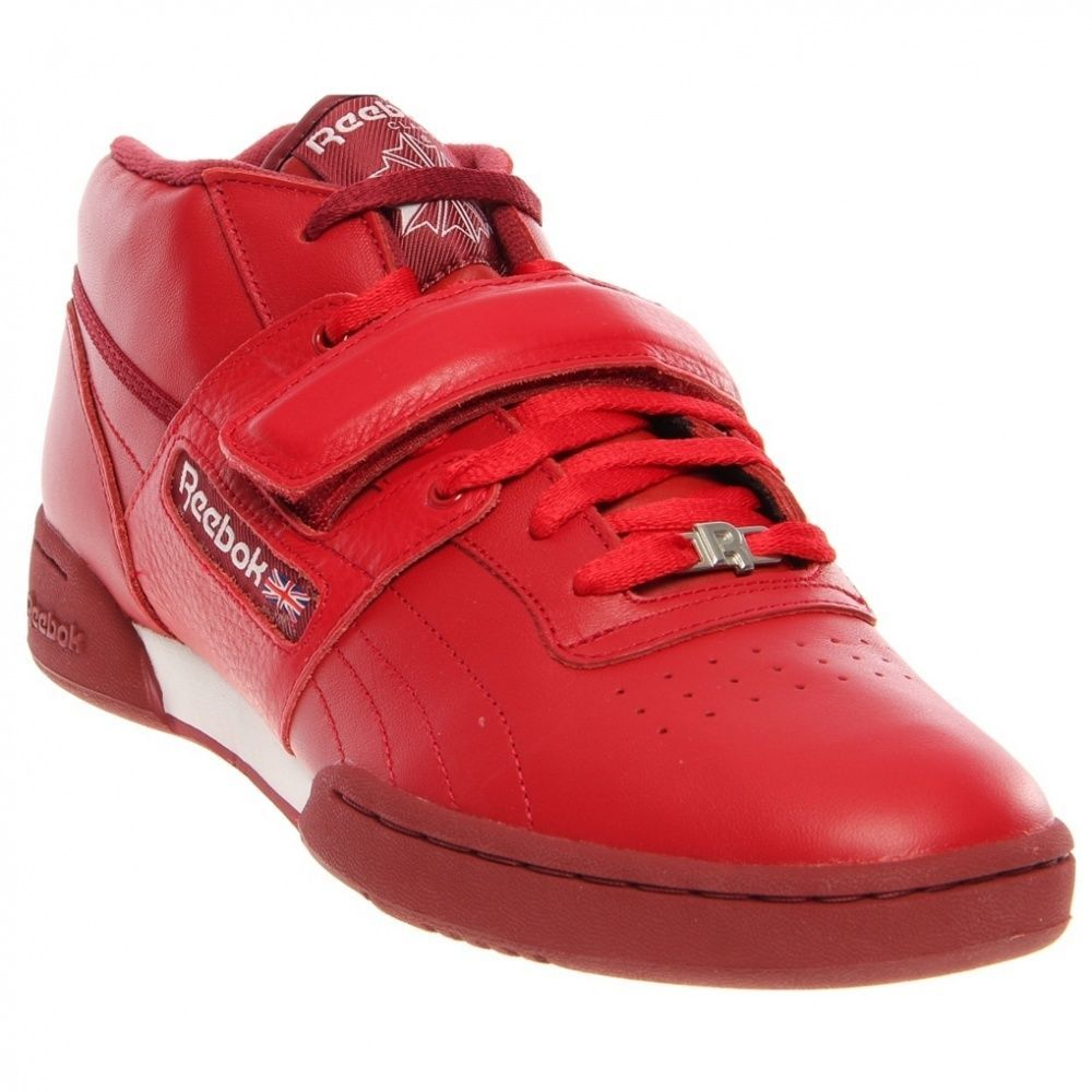 NEW REEBOK WORKOUT PLUS Red Leather MENS Classic NIB Limited