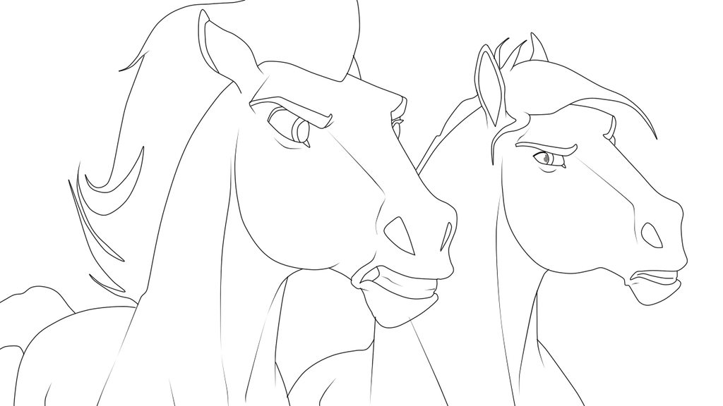 картинки лошадей рисунки спирита офис