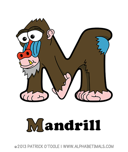 Alphabetimals Mandrill Animal Dictionary Animal Letters