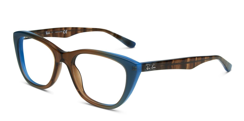Ray-Ban 5322 Brown w/Teal Prescription Eyeglasses
