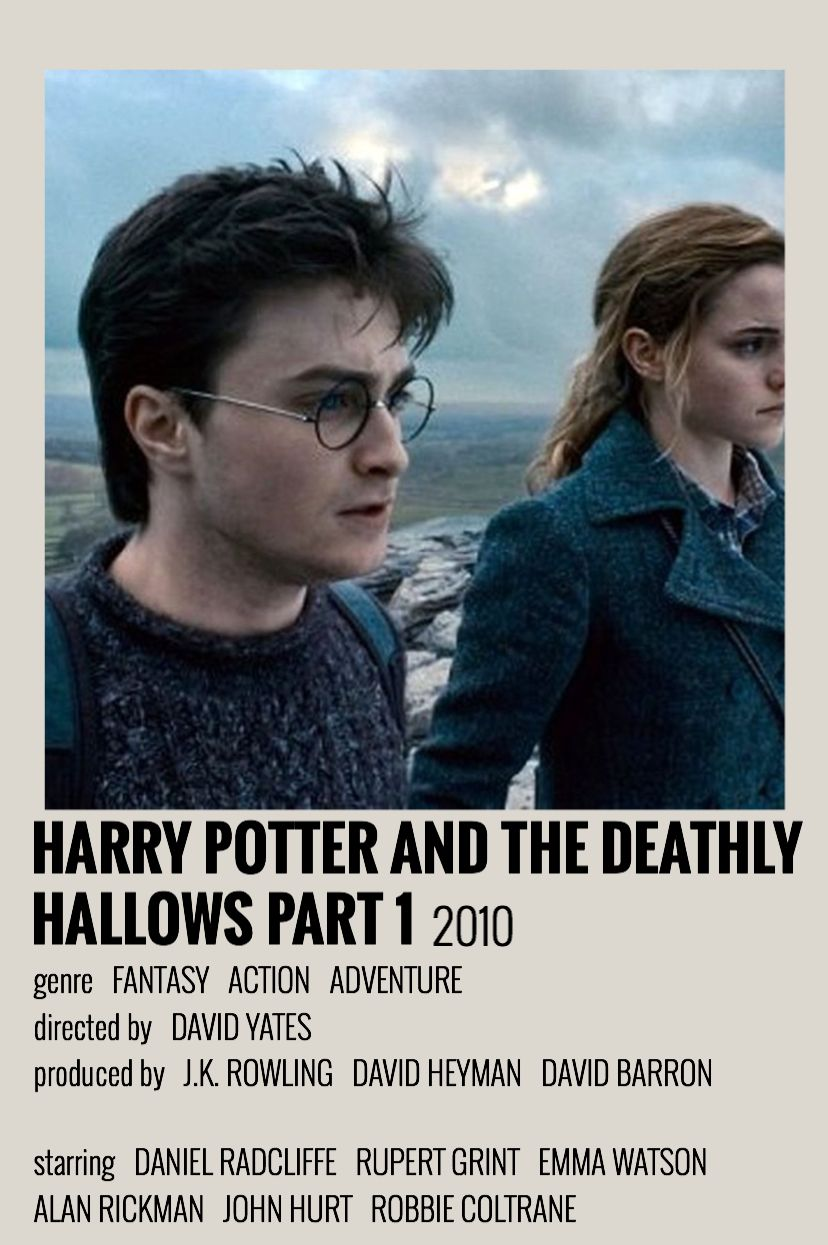 Harry Potter And The Deathly Hallows Part 1 By Orla Alternative Minimalist Movie Poster Deathly Hallows Part 1 Movie Posters Minimalist Movie Posters