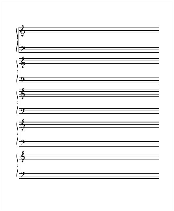 6 Printable Staff Papers Music Paper Paper Templates Printable