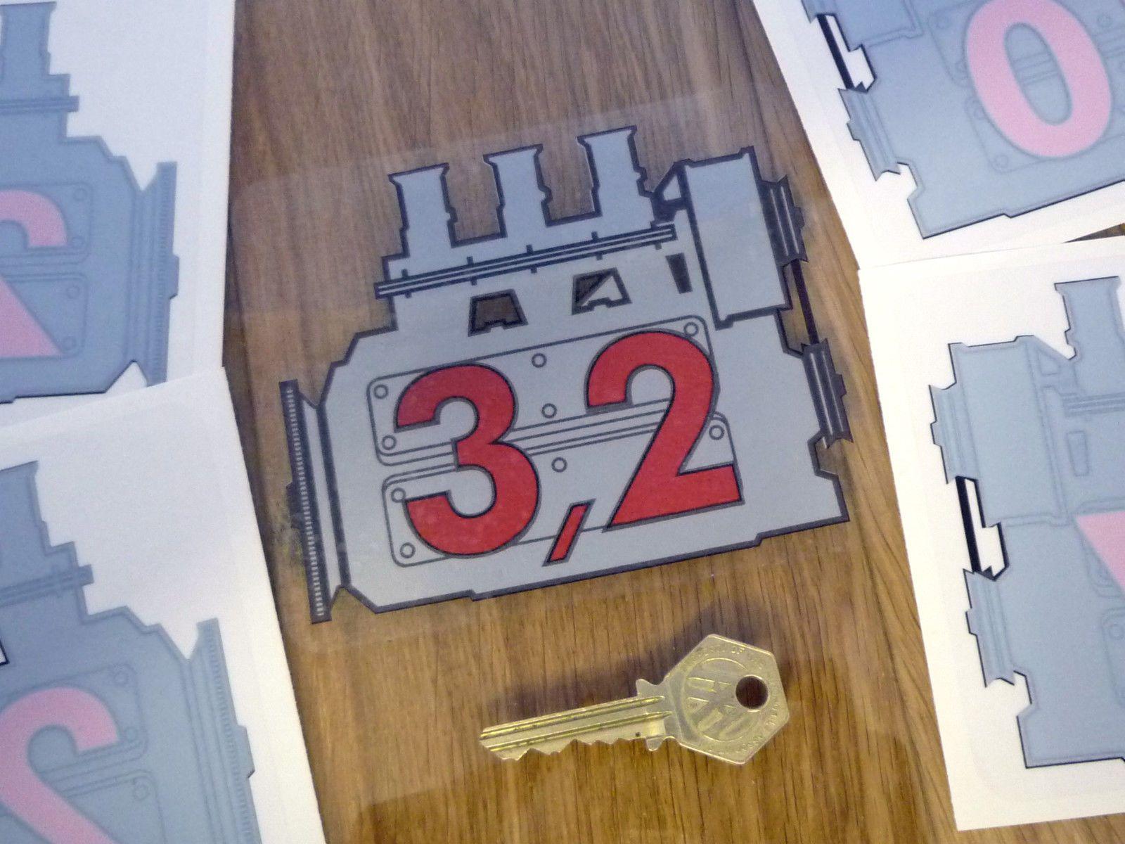Porsche 911 3 2 Engine Displacement CAR Window Sticker Decal 2 0 2 2 2 7 3 0   eBay