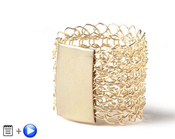 MINI Crochet Pattern, Wire Crochet Ring, Wire Crochet Pattern ...