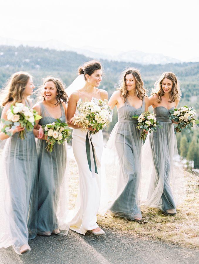 beautiful rustic bridesmaids dresses