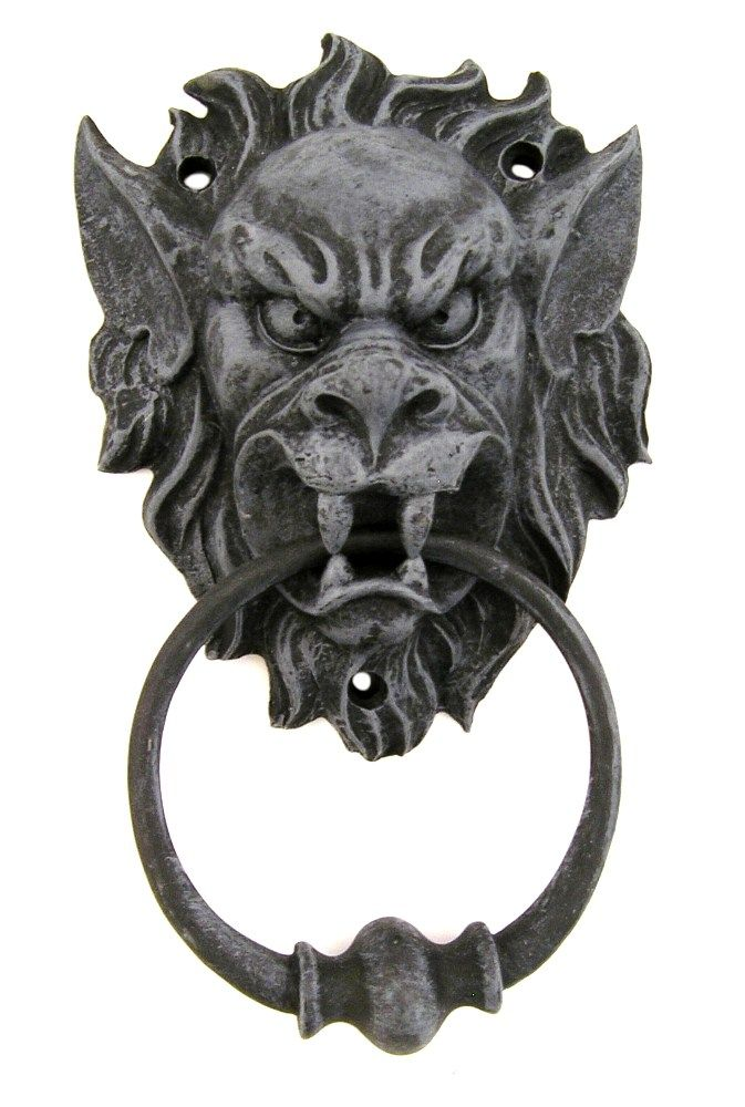 Gargoyle Door Knocker | Decor /Oddities   Gargoyle Head Door Knocker