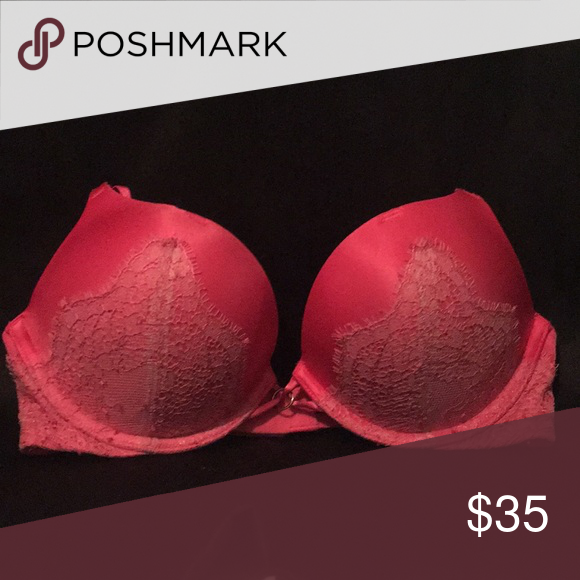 df9ab5537e2 Hot pink Victoria secret bombshell bra Double the cup size