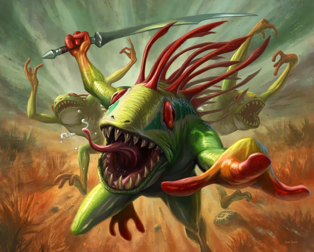 Hearthstone Card Artwork for Murloc Tidehunter - Dan Scott