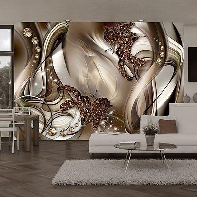 VLIES FOTOTAPETE * 3 Farben zur Auswahl * TAPETEN ABSTRAKT BLUMEN - wohnzimmer bilder abstrakt