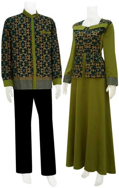 Model Gamis Kombinasi Couple 9