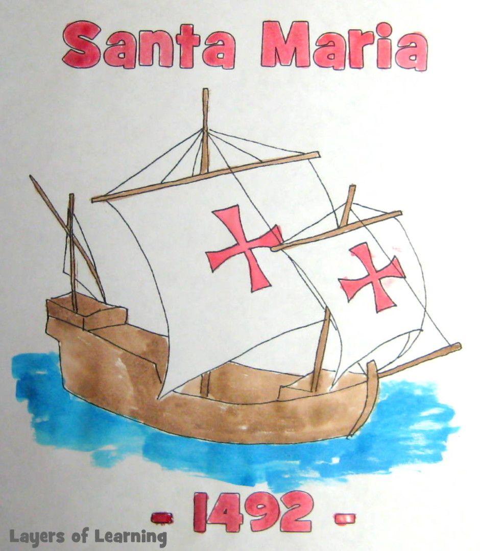 Unit 2 20 Layers Of Learning Homeschool Freebies Colonial History Santa Maria