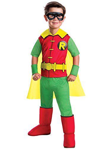 [Halloween Batman Costumes] Rubieu0027s Costume Boys DC Comics Deluxe Robin Costume Small Multicolor *** Click image for more details.  sc 1 st  Pinterest & Halloween Batman Costumes] Rubieu0027s Costume Boys DC Comics Deluxe ...