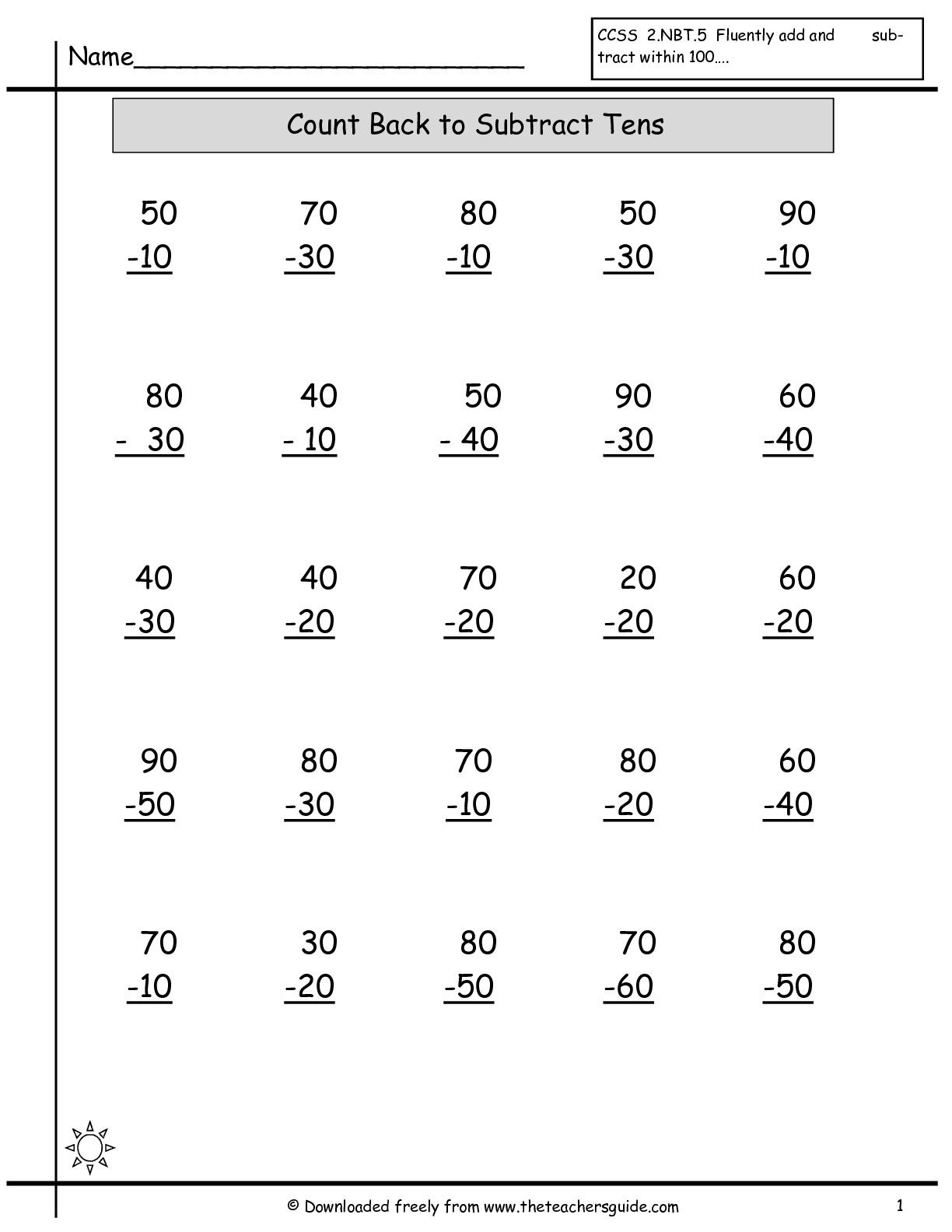 38 Simple Subtraction Worksheets Design Ideas S