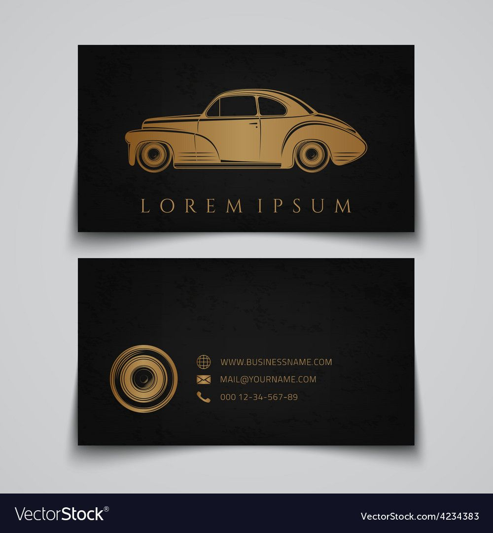 The Cool Business Card Template Classic Car Logo Inside Automotive Business Card Templates Pi Card Template Business Card Template Free Business Card Templates