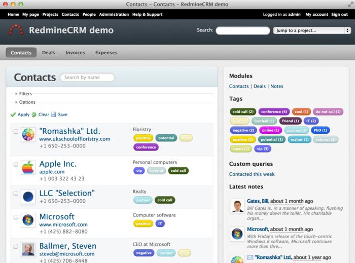 RedmineCRM - Premium Redmine plugins, CRM, Helpdesk