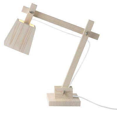 Lampe De Table Wood Lamp Muuto Blanc Bois Naturel Made In Design Lampe De Bureau Lampe Bois Lampe De Table Blanche