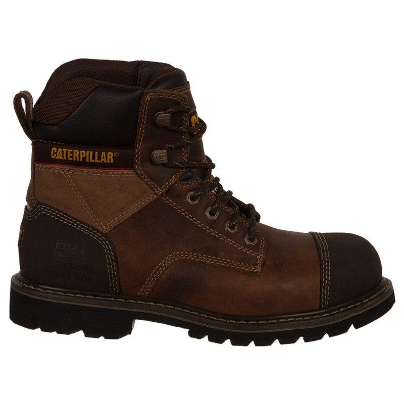 2017 Business Caterpillar Regulator Slip Resistant Steel Toe Work Boot Black Leather