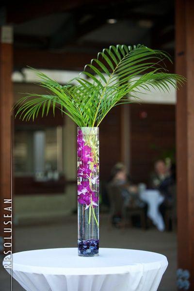 D I Y Crafts Tropical Centerpieces Palm Leaf Centerpiece Tropical Centerpieces Diy