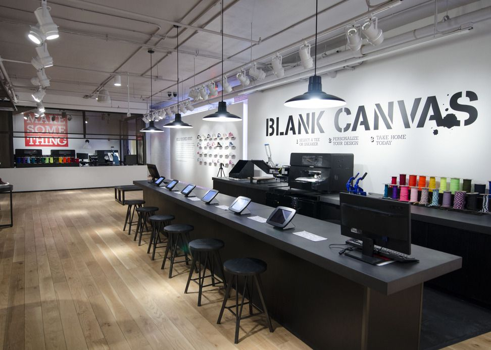 Great News Retail : The Sq. Store Features A New Blank Canvas Customization  Section And Later This Year Will Add A Sneaker Customization Experience.
