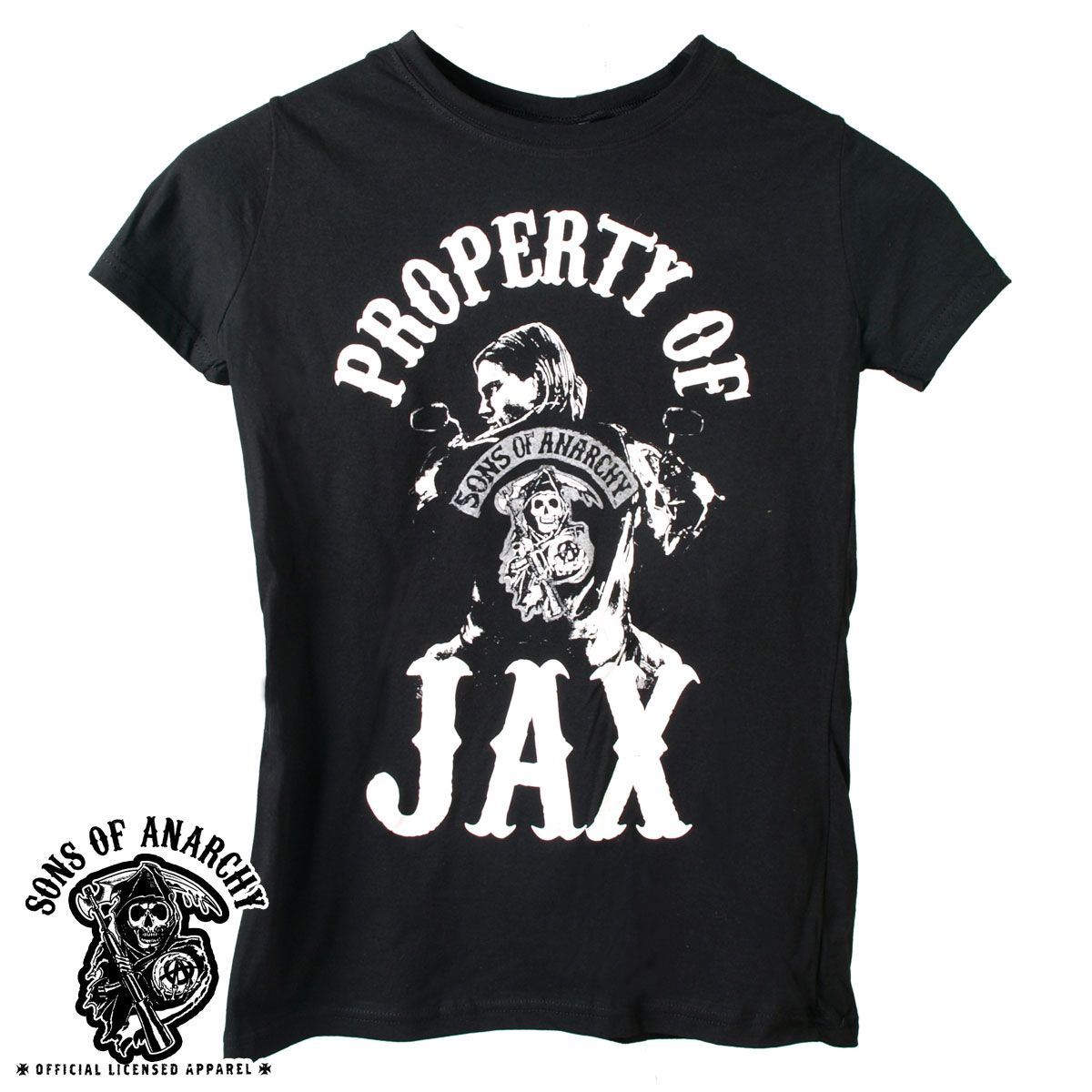 property of jax tee shirts official sons of anarchy. Black Bedroom Furniture Sets. Home Design Ideas