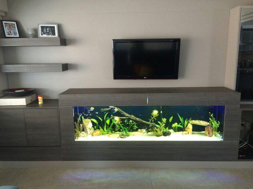 Aquarium Tv Unit Aquarium Design House Interior Wall Aquarium