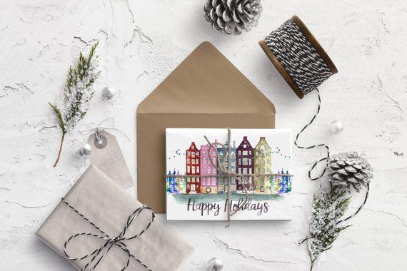 CHRISTMAS CARDS Boxed Set - Happy Holiday Stationery, Handmade