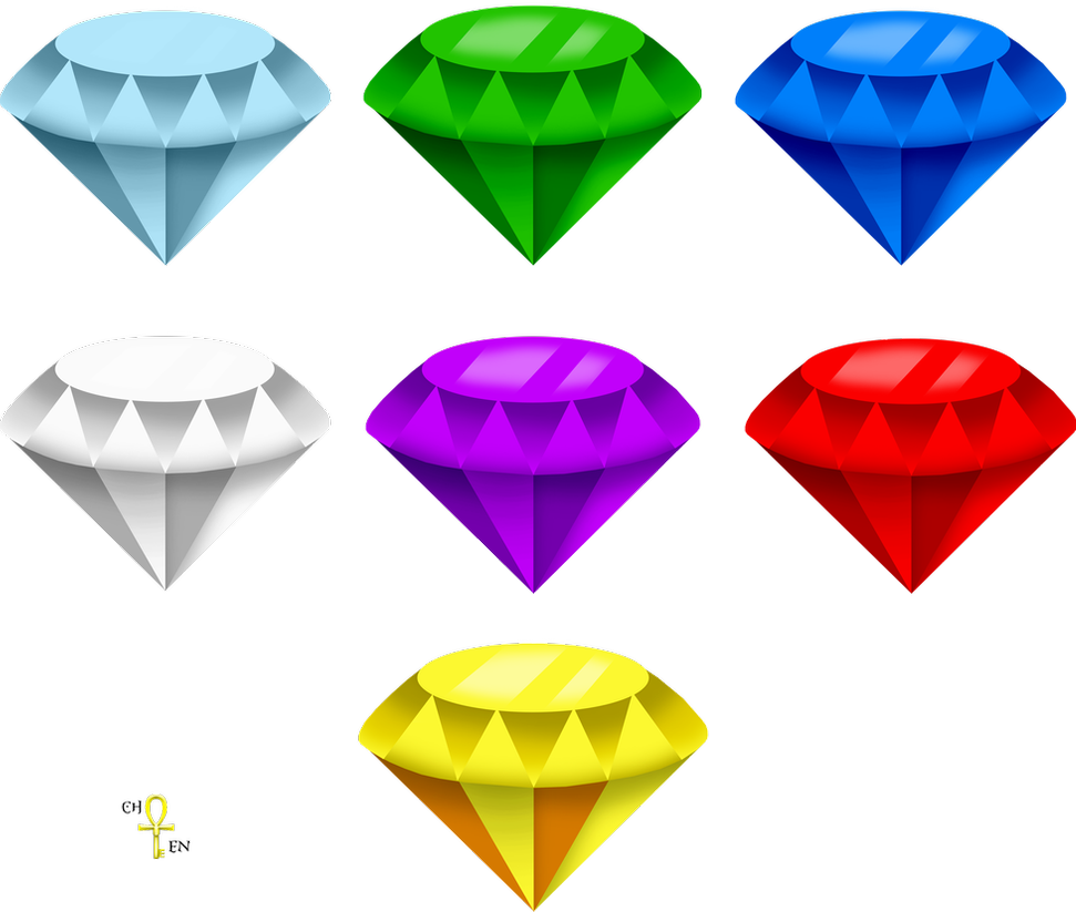 Chaos Emeralds Render Free Download By Underworldcircle On Deviantart Chaos Emeralds Chaos Sonic Birthday