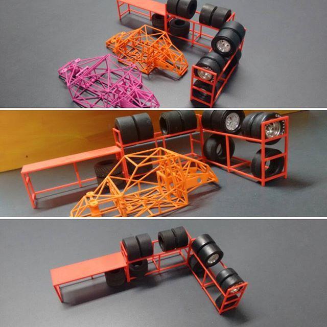 1/24 scale garage diorama, tire Rack and desk  #diorama #124