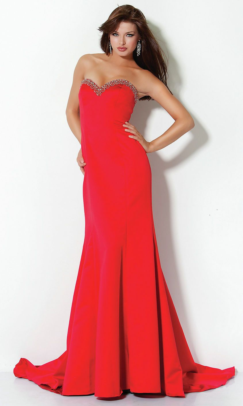 Long Red Strapless Prom Dresses - Missy Dress
