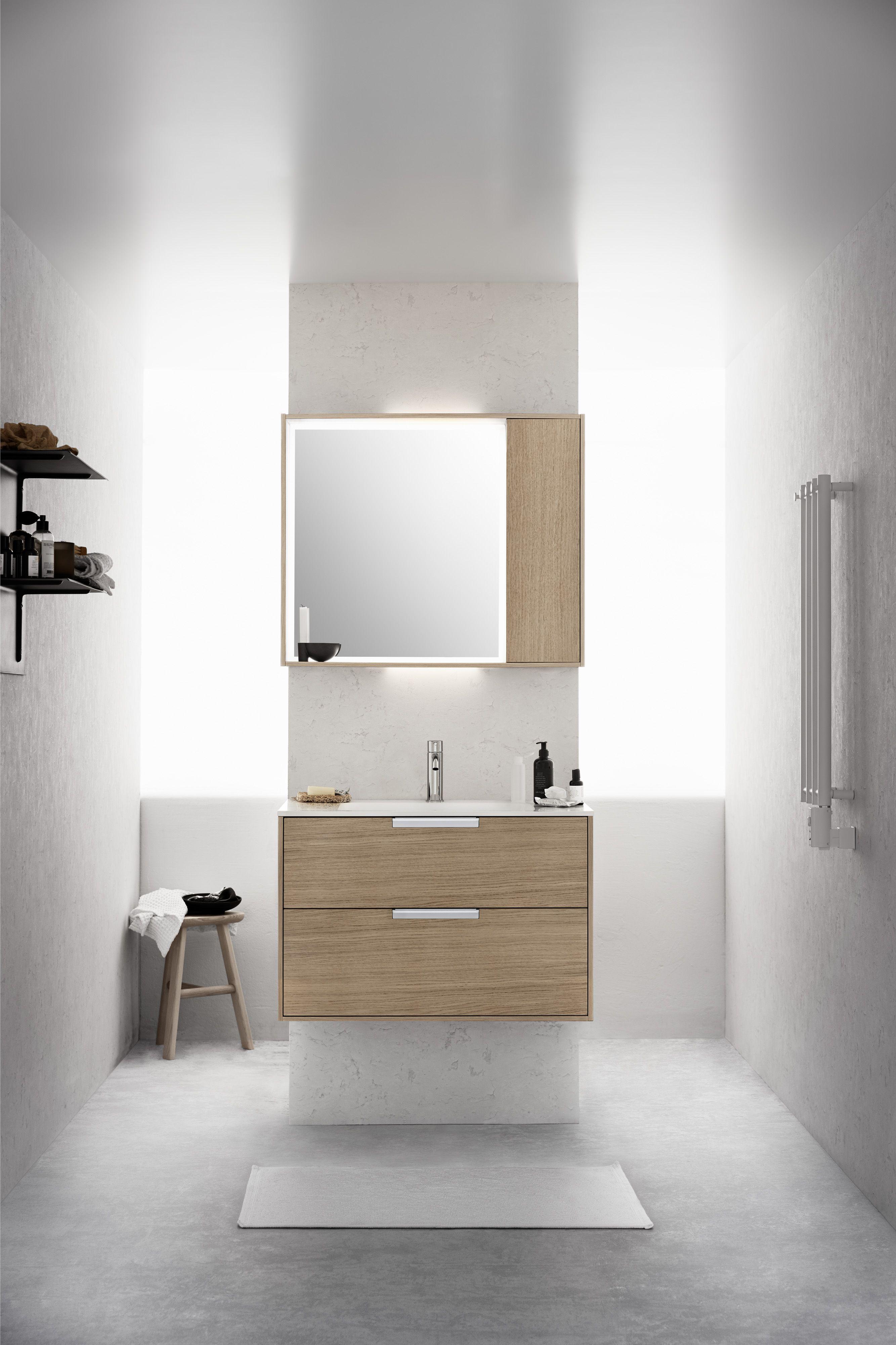 Oak Bathroom Furniture Washbasin Ek Komod Badrum Mobler Dk