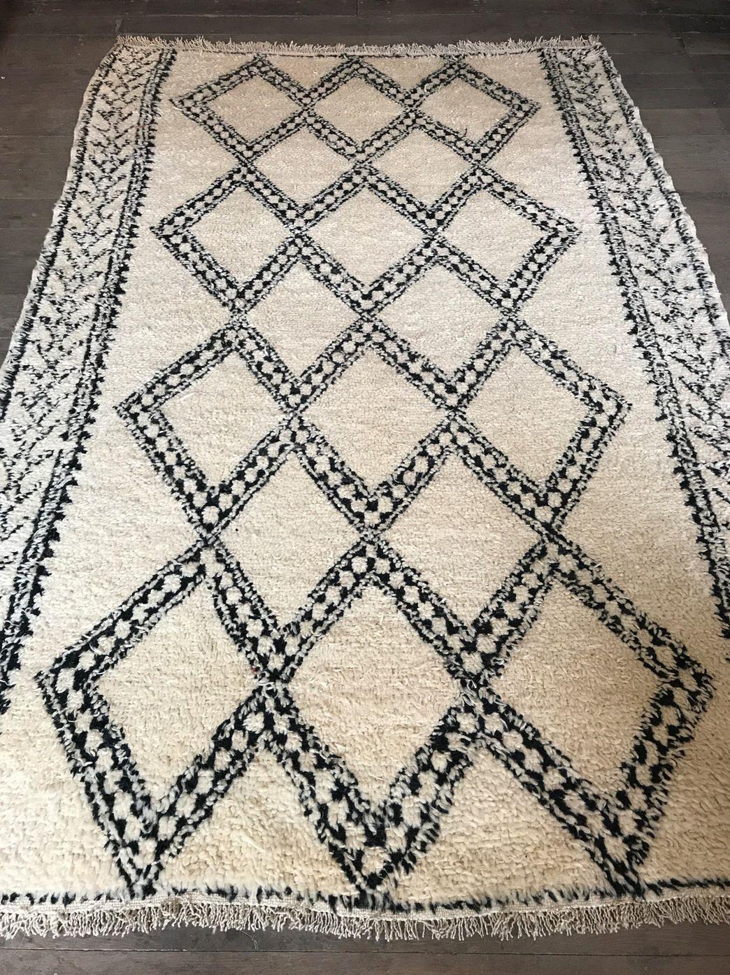 Berber Rug Black White Carpet 100 Natural Wool Black And White Carpet Berber Rug Rugs