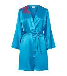 View the Rare Silk Short Robe