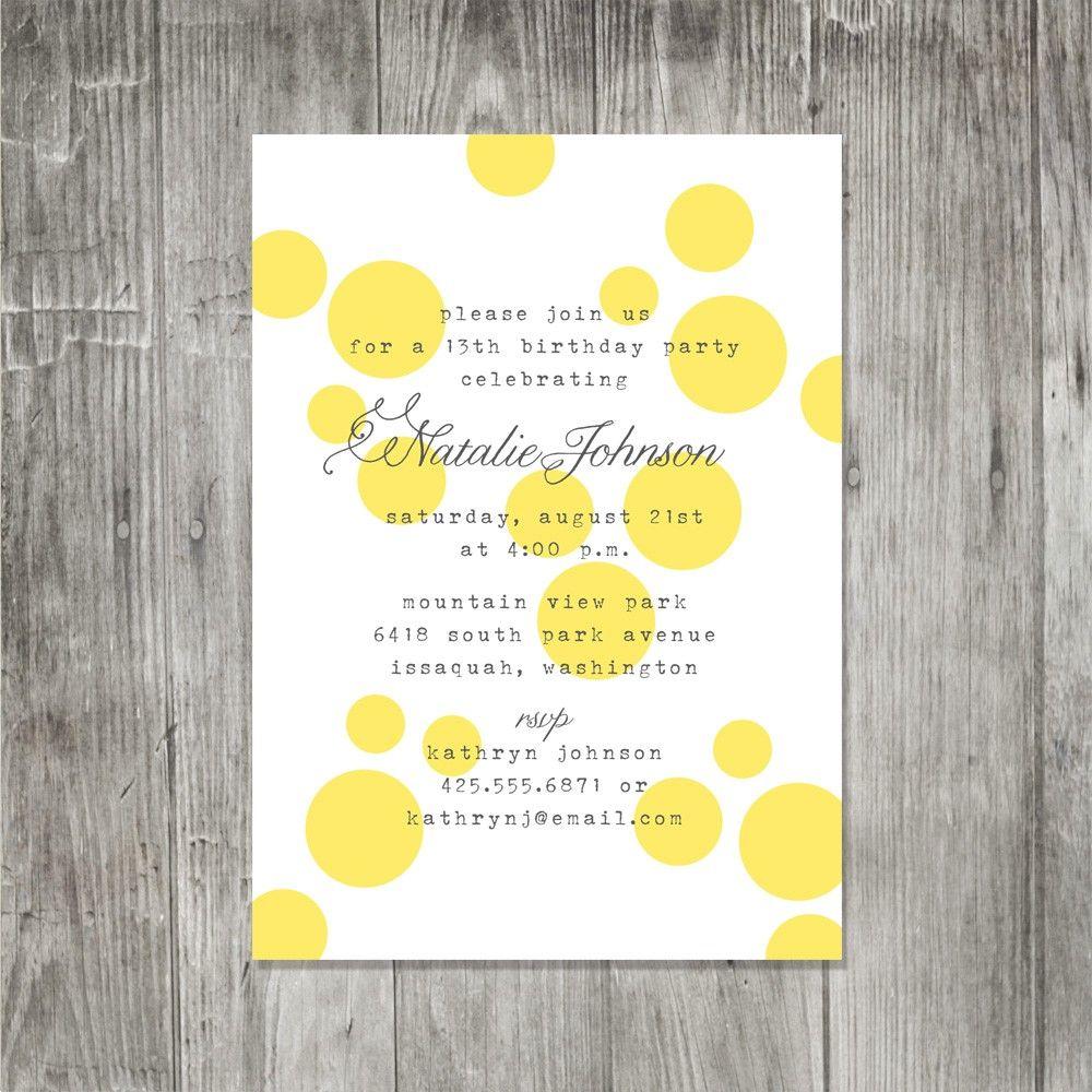 Big Dots Invitation   Ladies Luncheon Ideas   Pinterest   Wedding ...