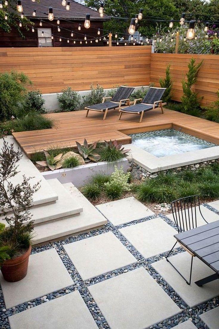 Schöne 46 attraktive kleine Pool Hinterhof Designs Ideen, um Sie zu inspirieren. Mehr am Dez #outdoorpatioideas